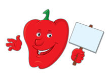 Cartoon bell pepper Stock Image