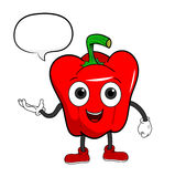 Cartoon Bell Pepper With Text Stock Image