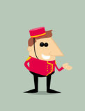 Cartoon bellboy Royalty Free Stock Photography