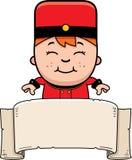 Cartoon Bellhop Banner Stock Photos
