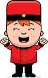 Cartoon Bellhop Celebrate Royalty Free Stock Image