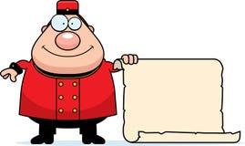 Cartoon Bellhop Sign Stock Photos