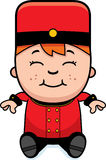 Cartoon Bellhop Sitting Royalty Free Stock Images