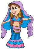 Cartoon belly dancer Stock Image