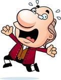 Cartoon Ben Franklin Panicking. An illustration of a cartoon Ben Franklin running and panicking vector illustration