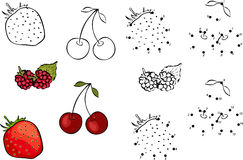 Cartoon Berries. Vector Illustration. Coloring Stock Photo