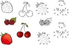 Cartoon berries. Vector illustration. Coloring  Stock Photo