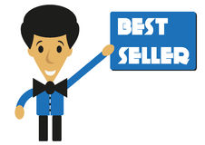 Cartoon best seller man Royalty Free Stock Photos