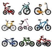 Cartoon bicycle Stock Photos