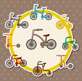 Cartoon bicycle card Royalty Free Stock Photo