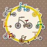 Cartoon bicycle card Royalty Free Stock Photo