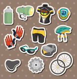 Cartoon bicycle equipment stickers Royalty Free Stock Photography