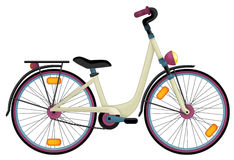 Cartoon bicycle Royalty Free Stock Images