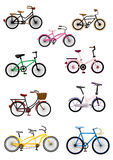 Cartoon bicycle icon Royalty Free Stock Photos