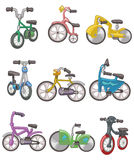 Cartoon bicycle icon. Drawing Stock Photography