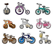 Cartoon bicycle icon Stock Photos