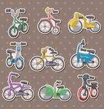 Cartoon Bicycle stickers Stock Photo