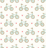 Cartoon bicycles pattern Stock Photo