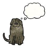 Cartoon big black dog Royalty Free Stock Photos