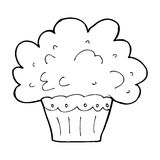 Cartoon big cupcake Royalty Free Stock Images
