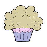 Cartoon big cupcake Stock Photo
