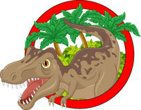 Cartoon big dinosaur Stock Images