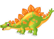 Cartoon big dinosaur Stegosaurus Royalty Free Stock Image