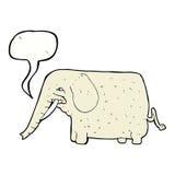 Cartoon big elephant with speech bubble Royalty Free Stock Image