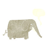cartoon big elephant with speech bubble Royalty Free Stock Photo