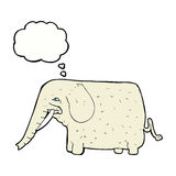 Cartoon big elephant with thought bubble Stock Images