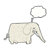 Cartoon big elephant with thought bubble Stock Photo