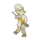 cartoon big game hunter Royalty Free Stock Image