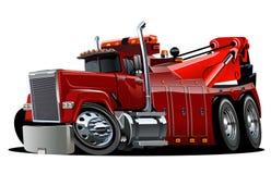 Cartoon big rig tow truck Stock Photography