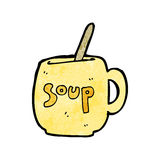 Cartoon big soup mug Stock Images