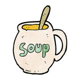Cartoon big soup mug Royalty Free Stock Photo
