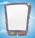 Cartoon Big Stone Agreement Panel For Ui Game Royalty Free Stock Images