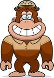 Cartoon Bigfoot Safari. A cartoon illustration of a bigfoot in a safari outfit and pith Stock Photography