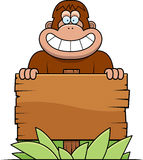 Cartoon Bigfoot Sign Stock Photos