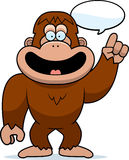 Cartoon Bigfoot Talking Stock Image