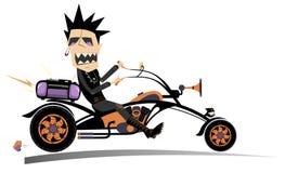 Cartoon biker man isolated Royalty Free Stock Image