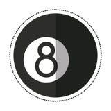 Cartoon billiard ball  eight. Illustration eps 10 Stock Photography