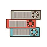 Cartoon binders file folder office supplies. Illustration eps 10 Stock Images
