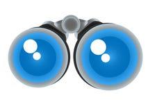 Cartoon binocular  telescope Royalty Free Stock Photo