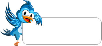 Cartoon Bird Blank Banner Royalty Free Stock Images