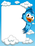 Cartoon bird Blank frame Sky Royalty Free Stock Photos