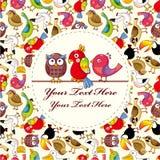 Cartoon bird card Royalty Free Stock Photos