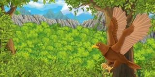 Cartoon bird - eagle flying Stock Image