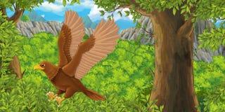 Cartoon bird - eagle flying Stock Photos