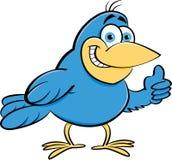 Cartoon bird giving thumbs up. Stock Image