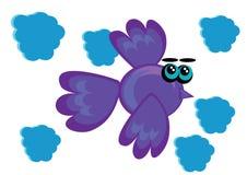Cartoon bird on isolated background Stock Photography